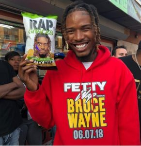 Fetty wap endorses Kingpop Fetty wap Rap Snacks Package Design