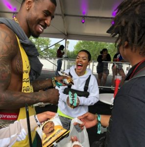 iman shumpert and teyana taylor endorses Kingpop Fetty wap Rap Snacks Package Design