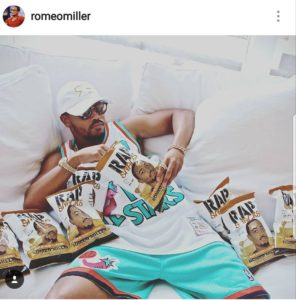 Romeo Miller supports Kingpop rap snacks package design