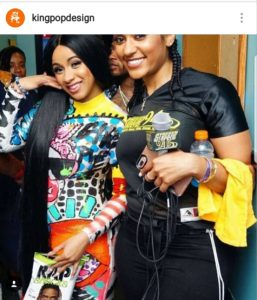 Cardi B supports Kingpop rap snacks package design