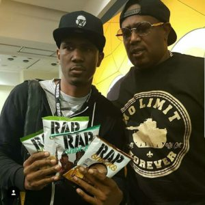Master P supports Kingpop Rap Snacks Design pacakaging