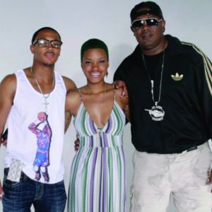 Master P and Romeo Miller wearing Pop Culture Clothing